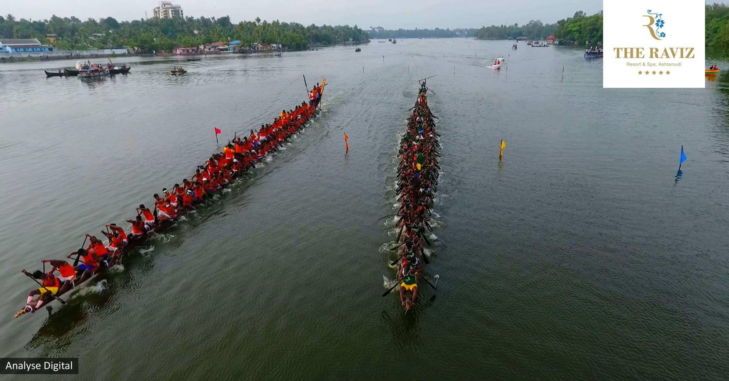 front view of the boat race at ashtamudi lake