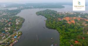 bird view of the ashtamudi lake, kollam
